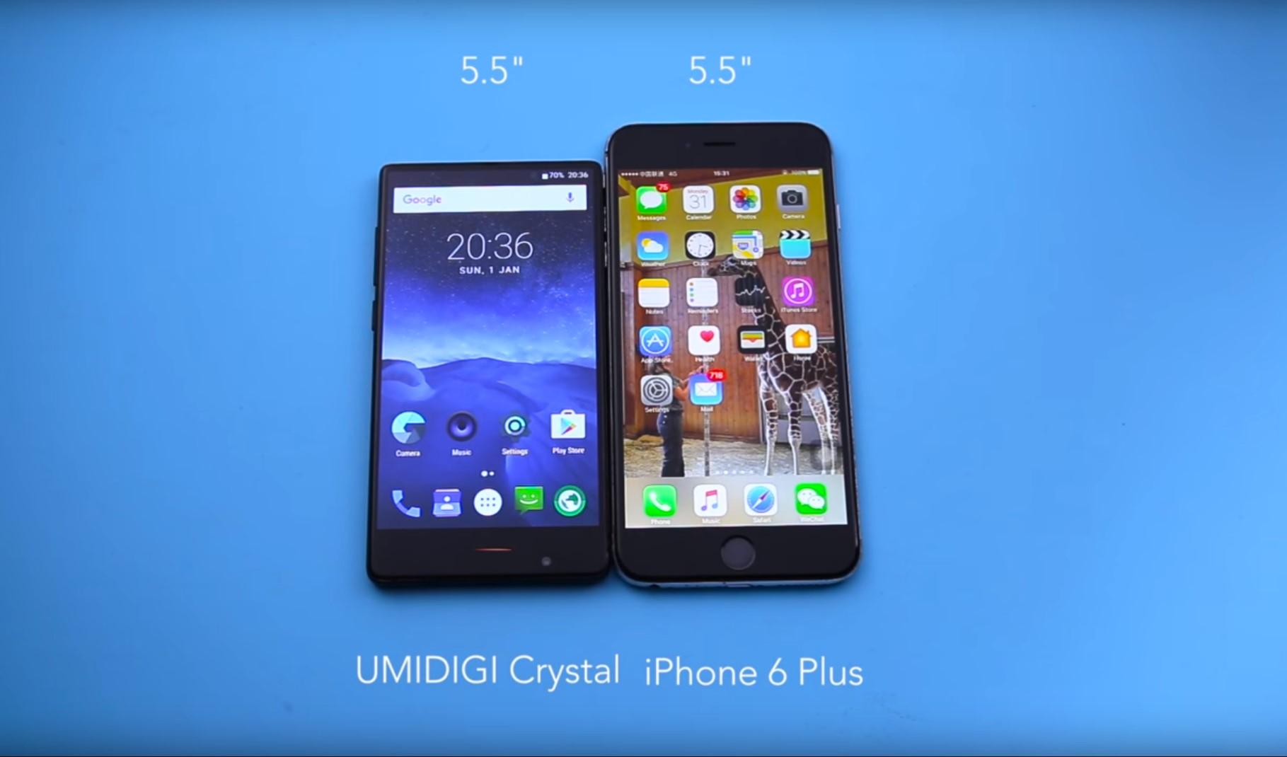 umidigi crystal le smartphone sans bord smartphone actualit. Black Bedroom Furniture Sets. Home Design Ideas